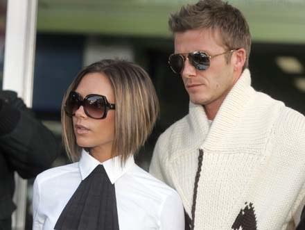Victoria i David Beckhamowie /arch. AFP