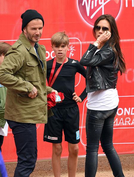 Victoria z Davidem i synem /- /Getty Images