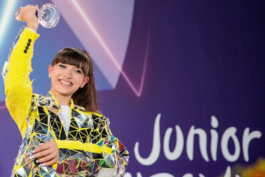 Viki Gabor po koncercie finałowym Konkursu Eurowizja Junior 2019 / Andrzej Grygiel    /PAP
