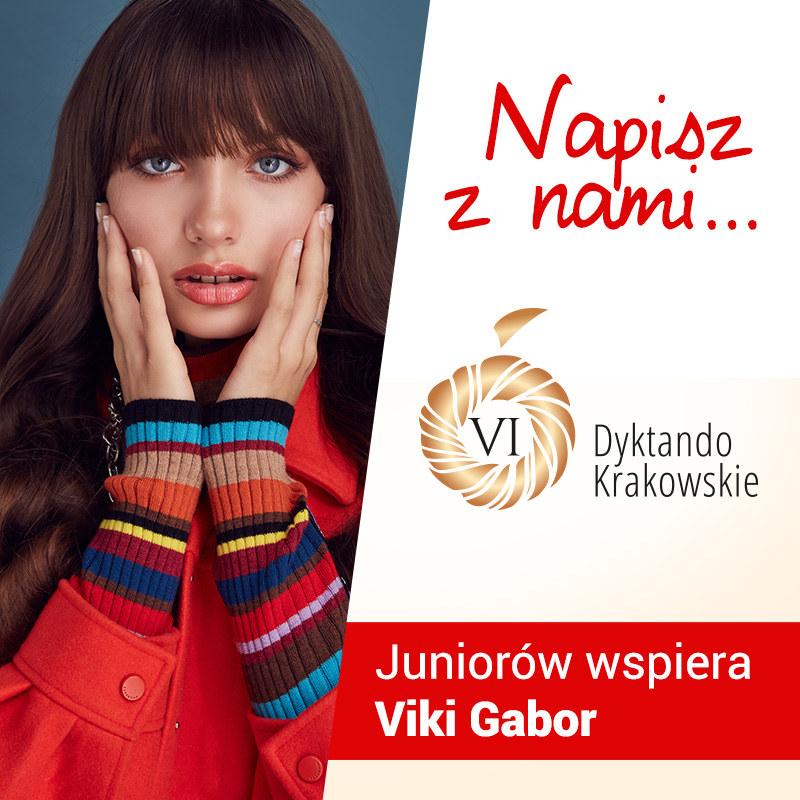 Viki Gabor wspiera uczestników Dyktanda Krakowskiego /RMF FM