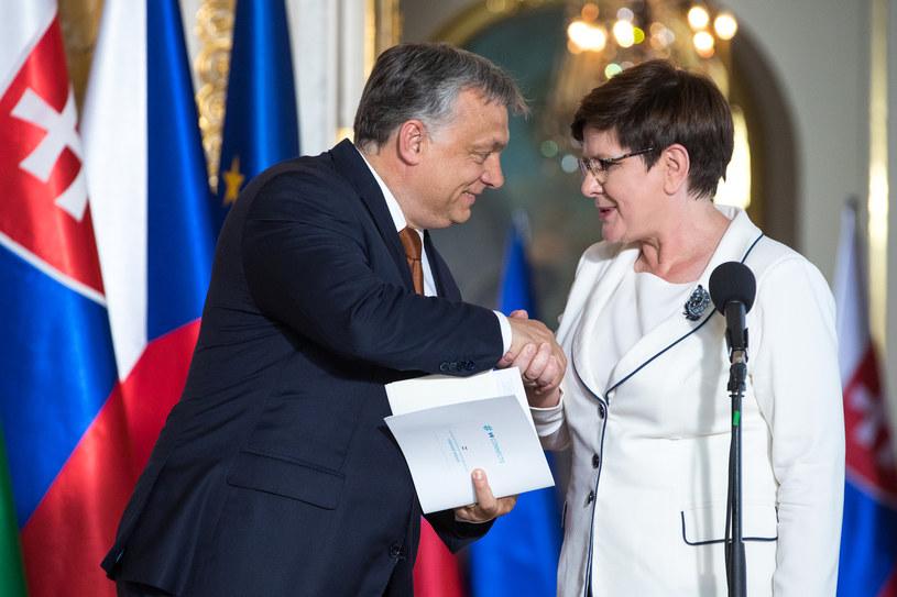 Viktor Orban i była premier Beata Szydło /fot. Andrzej Iwanczuk /Reporter