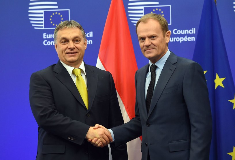 Viktor Orban i Donald Tusk /AFP