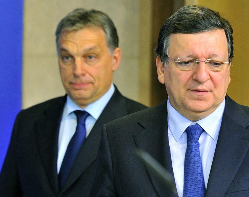 Viktor Orban i Jose Manuel Barroso /AFP