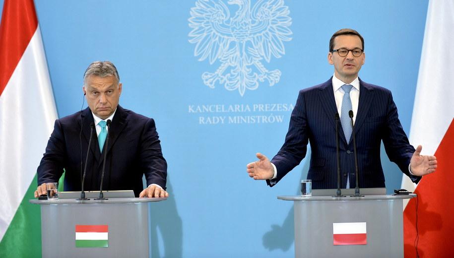 Viktor Orban i Mateusz Morawiecki / Marcin Obara  /PAP