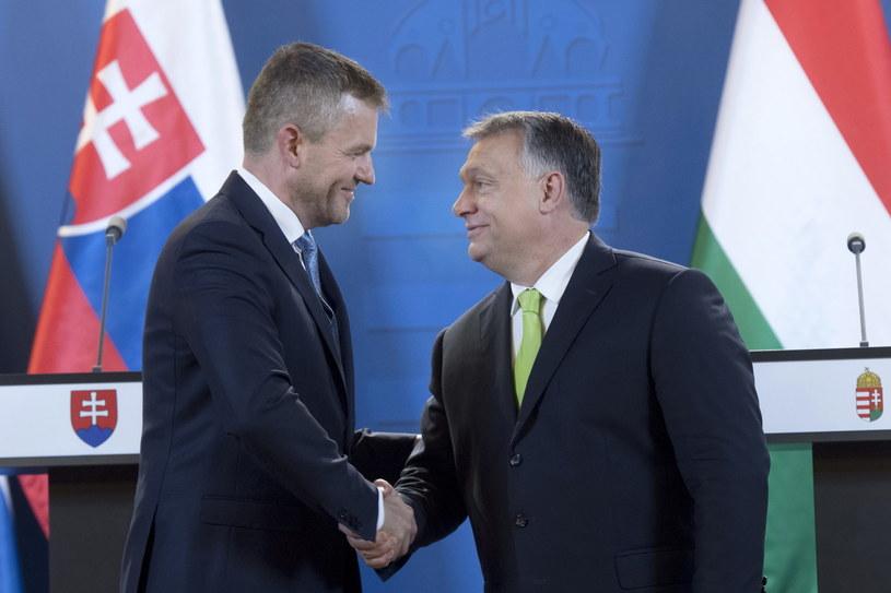 Viktor Orban i Peter Pellegrini /Szilard Koszticsak /PAP/EPA