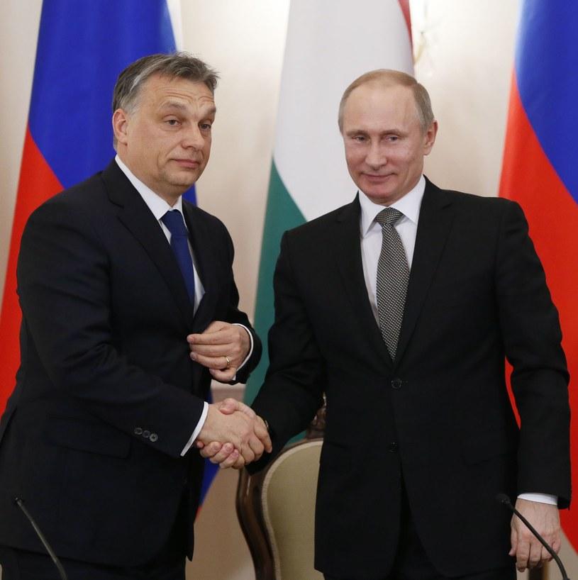 Viktor Orban i Władimir Putin /AFP
