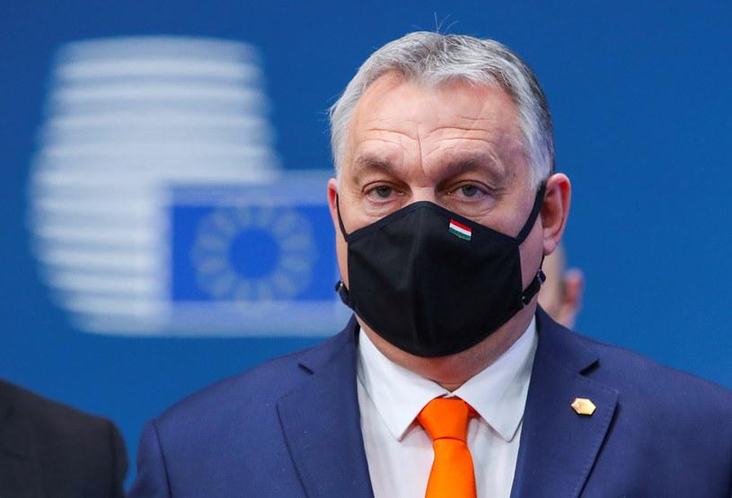 Viktor Orban podczas szczytu UE w Brukseli /Reuters /Agencja FORUM
