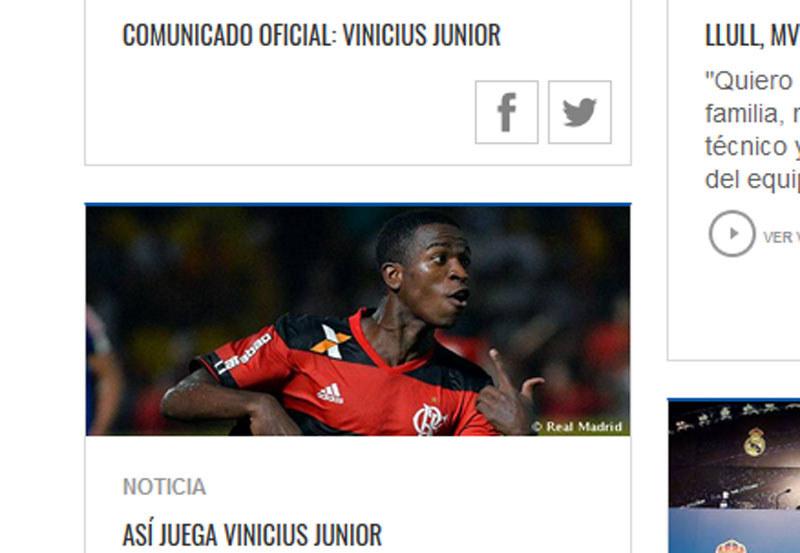 Vinicius Junior w Realu Madryt / realmadrid.com /