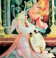 Viola da gamba i viola da braccio, fragment ołtarza z Isenheim, ok. 1512-1515 /Encyklopedia Internautica