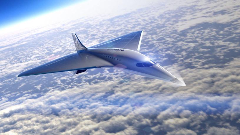 Virgin Galactic ujawnia pomysł na naddźwiękowy samolot /materiały prasowe
