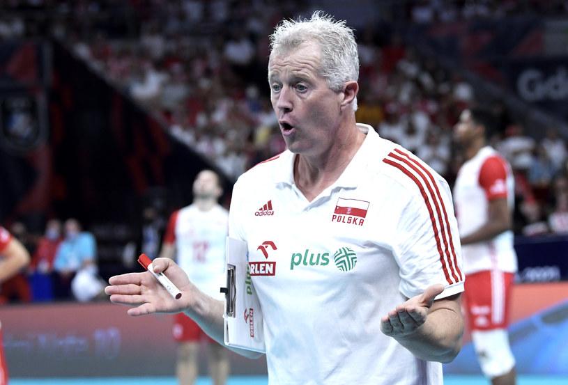 Vital Heynen w trakcie meczu z Rosją / cev.eu /