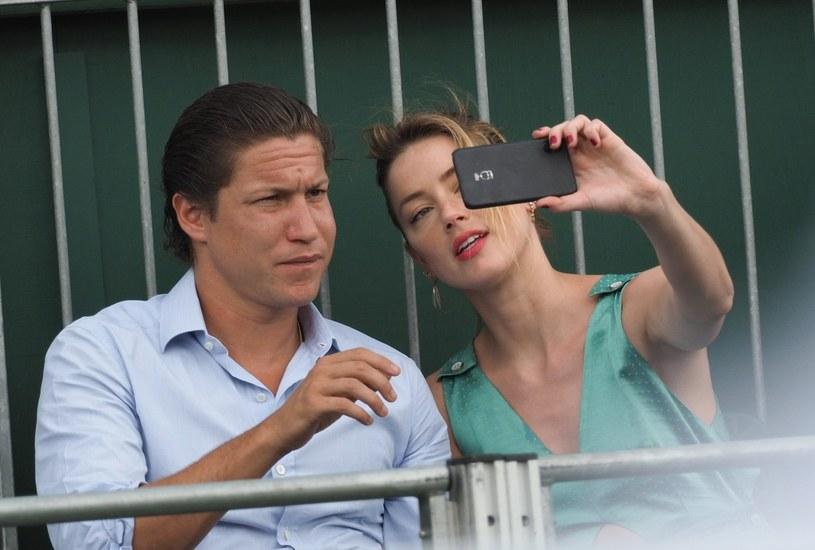 Vito Schnabel i Amber Heard /Agencja FORUM