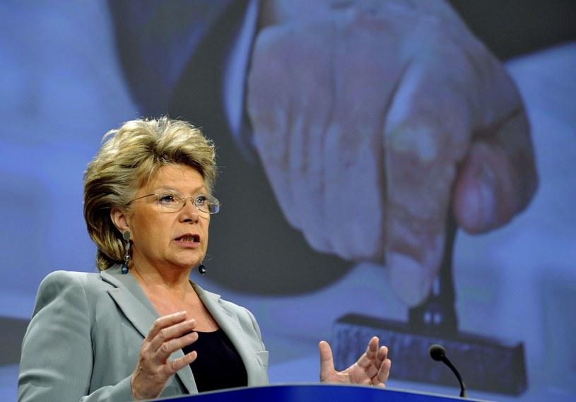 Viviane Reding, wiceprzewodnicząca Komisji Europejskiej /AFP