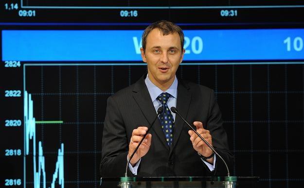 Vladas Bagavicius, prezes Agrowill Group AB, podczas debiutu na GPW /PAP
