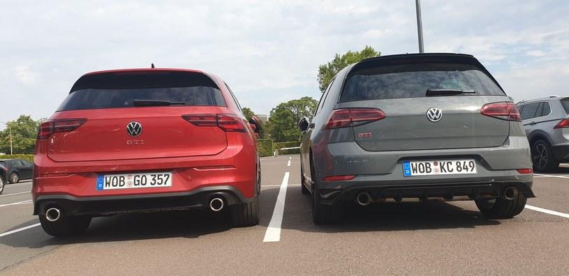 Volkswagen Golf GTI VIII oraz VII /INTERIA.PL