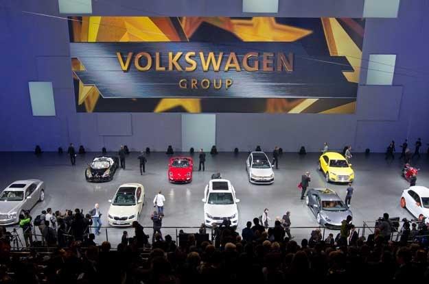 Volkswagen Group Night, zorganizowano we wnętrzu jednej z hal kompleksu olimpijskiego /