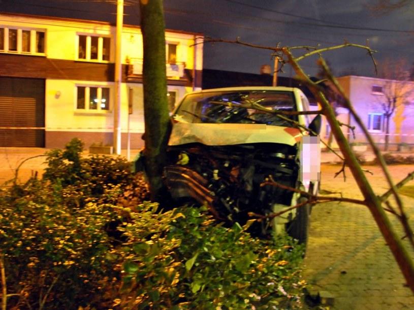 Volkswagen udzerzył w drzewo /Policja
