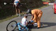 Vuelta Espana. Wypadek Kwiatkowskiego