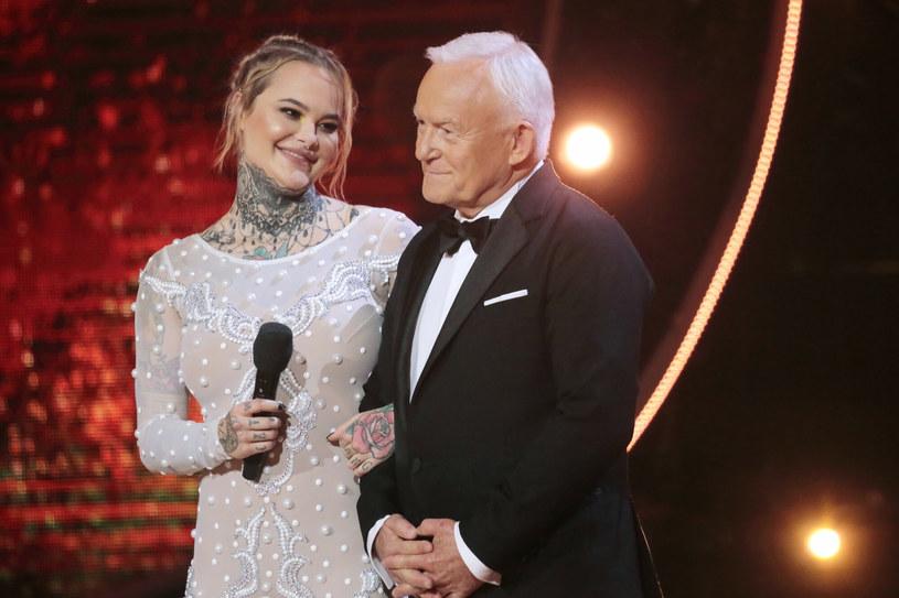 W 10. edycji Tańca z Gwiazdami Monika Miller wystąpiła również ze swoim sławnym dziadkiem, Leszkiem Millerem /fot. Jankowski/Reporter /East News