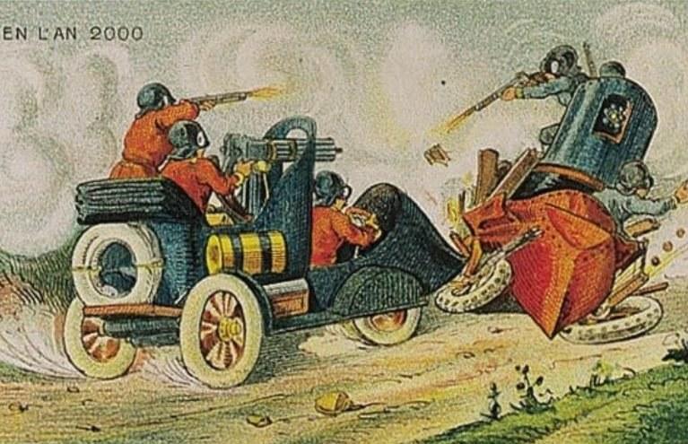 W 1900 roku wiedziano już, że przyszłość należy do pojazdów mechanicznych, a nie do konnicy /Wikimedia Commons /materiały prasowe