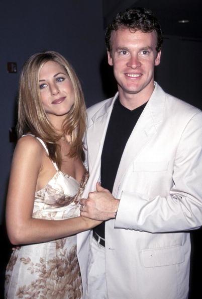 """W 1995 roku serialowa Rachel zaczęła spotykać się z aktorem z planu """"Przyjaciół"""", Tatem Donovanem /Kevin Mazur /Getty Images"""