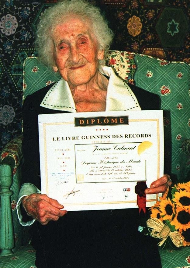 W 1997 roku zmarła w wieku 122 lat Jeanne Calment, którą do dziś uznaje się za osobę, która według udokumentowanych źródeł żyła najdłużej /CAF /PAP