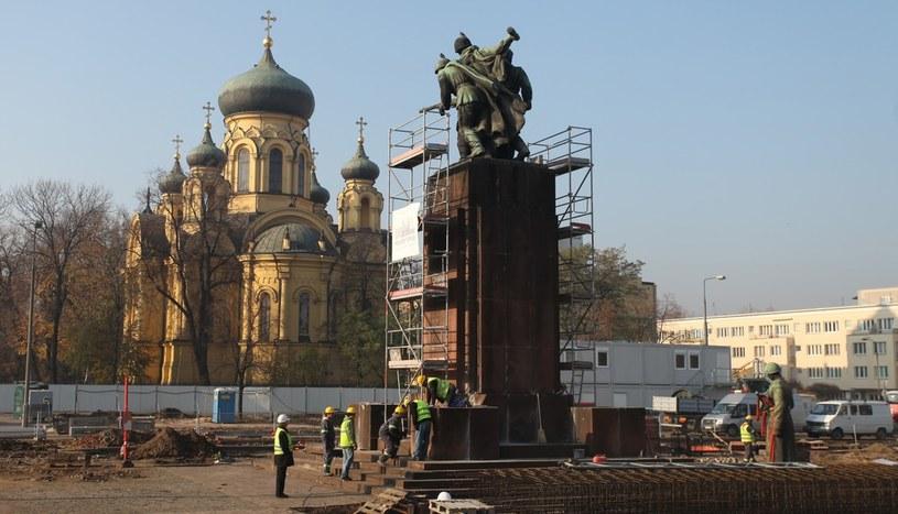 W 2011 roku pomnik został zdemontowany z powodu budowy metra /Stefan Maszewski /Reporter
