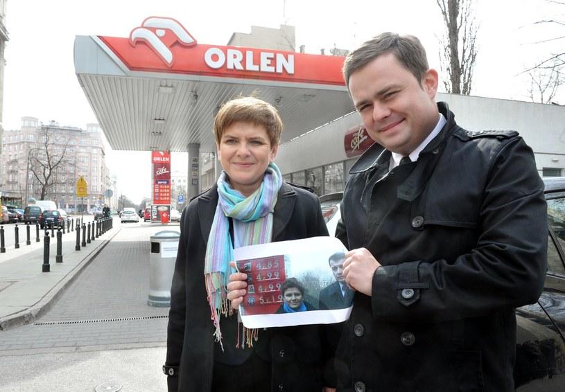 W 2012 późniejsza premier Szydło prostestowała przeciw cenom paliw. Dziś ceny są wyższe, ale premier nie przeszkadają /Jacek Domiński /Reporter