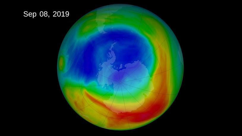 W 2019 r. dziura ozonowa była najmniejsza w historii /NASA