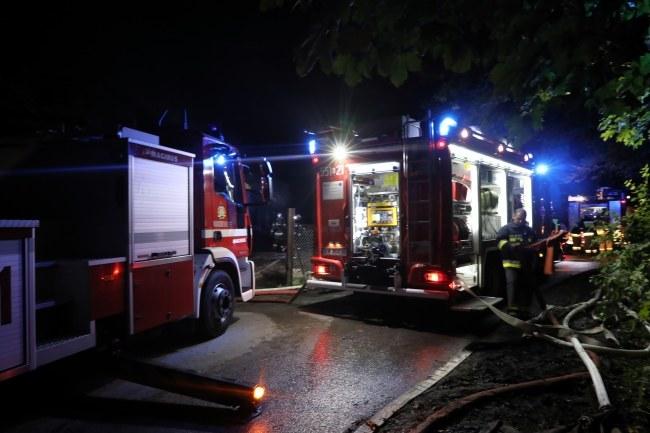 W akcji gaśniczej uczestniczyły w sumie 42 zastępy strażaków / Grzegorz Momot    /PAP