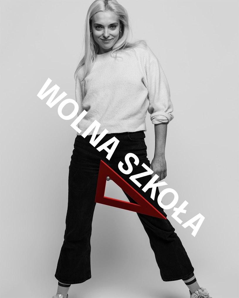W akcji Wolna Szkoła bierze udział również aktorka, Magdalena Koleśnik /Karol Grygoruk /materiały prasowe