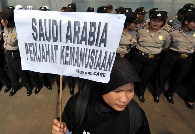 W Arabii Saudyjskiej dochodzi do protestów przeciwko wykonywaniu kary śmierci fot. Adek Berry /AFP