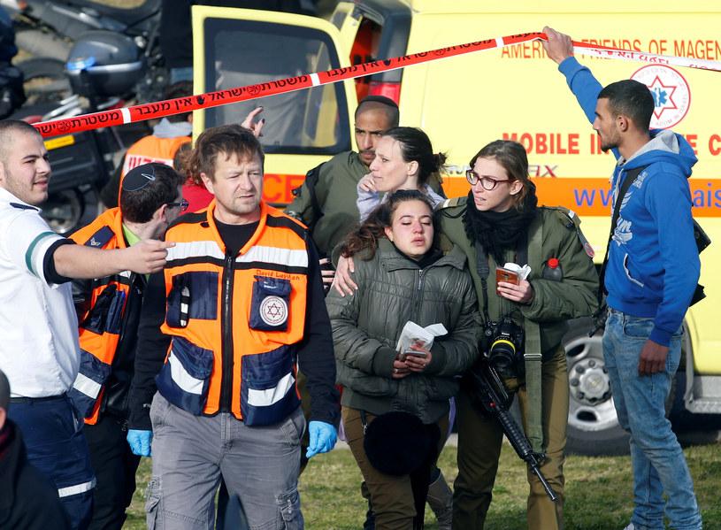 W ataku zginęły 4 osoby, 15 zostało rannych /RONEN ZVULUN /Agencja FORUM