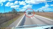 W Australii dachowało auto z przyczepą kempingową