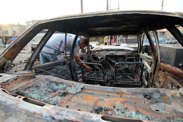 W Bagdadzie doszło do kolejnego zamachu fot. Haidar Mohammed Ali /AFP