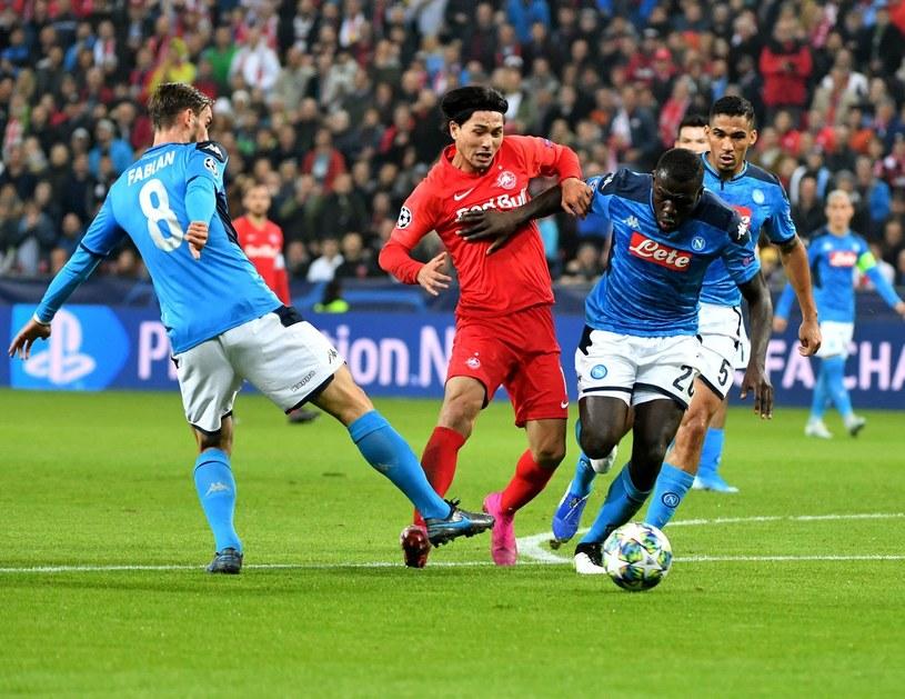 W barwach Napoli (od lewej): Fabian Ruiz, Kalidou Koulibaly i Allan /AFP