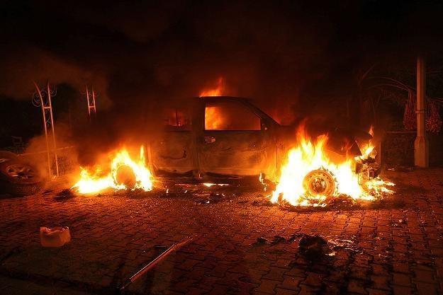 W Begazi zginął ammbasador USA /AFP