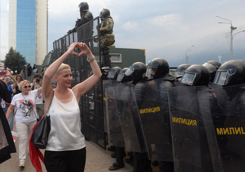 W białoruskiej stolicy odbył się w niedzielę kolejny rekordowy pod względem liczby uczestników wiec /STRINGER /PAP/EPA