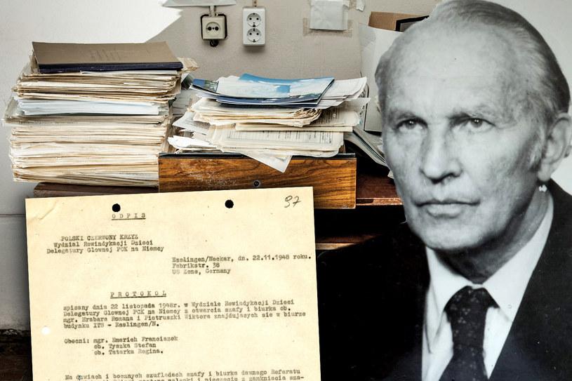 W biurze Romana Hrabara i Wiktora Pietruszki w Esslingen znaleziono w 1948 roku cenne dokumenty związane z rewindykacją polskich dzieci /