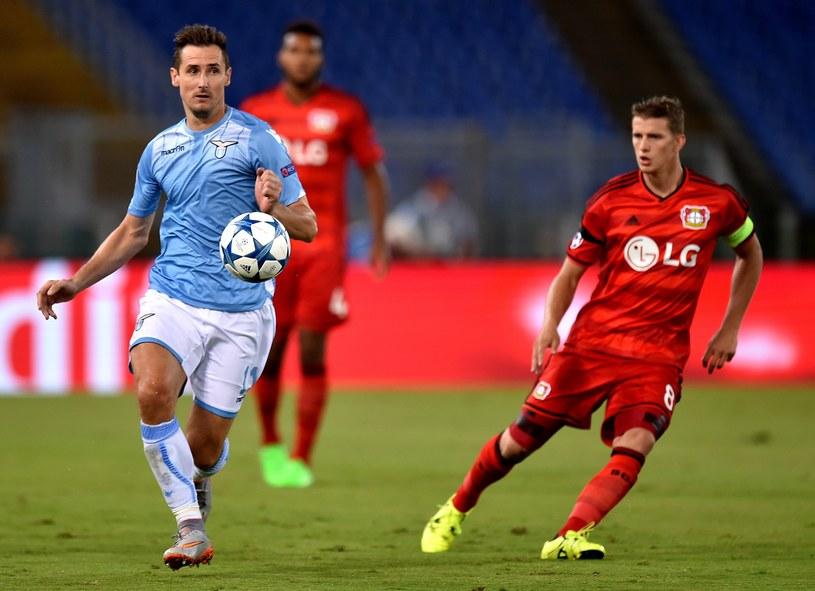 W błękitnej koszulce Miroslav Klose /AFP
