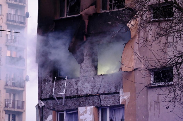 W bloku w Zabrzu najprawdopodobniej eksplodował gaz /Andrzej Grygiel /PAP