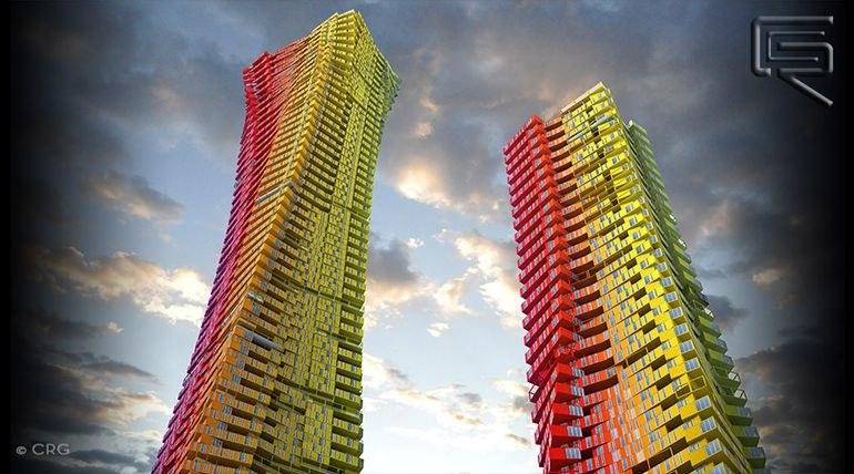 W Bombaju staną dwie wieże - mniejsza i większa /materiały prasowe