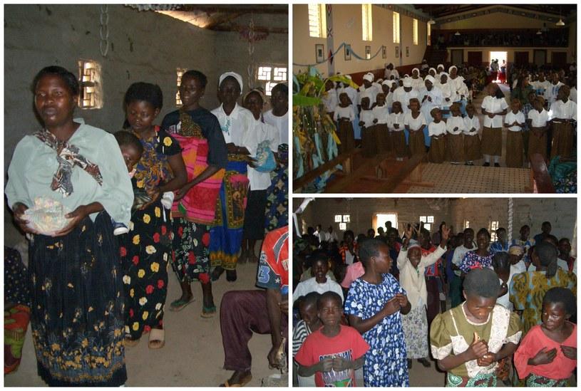 W Boże Narodzenie w Zambii odbywa się długa, uroczysta msza /ks. Franciszek Szczurek /materiały prasowe