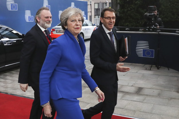 W Brukseli zaczął się najważniejszy unijny szczyt ws. opuszczenia Wspólnoty przez Wielką Brytanię /YVES HERMAN / POOL /PAP/EPA