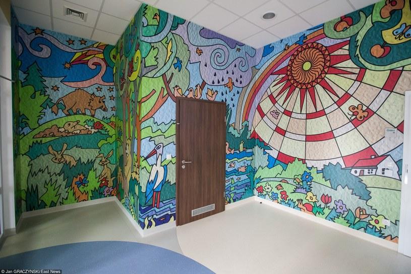 W CCB mają być leczeni także najmłodsi pacjenci, na zdj. sale dla oczekujacych na zabieg /Jan Graczyński /East News
