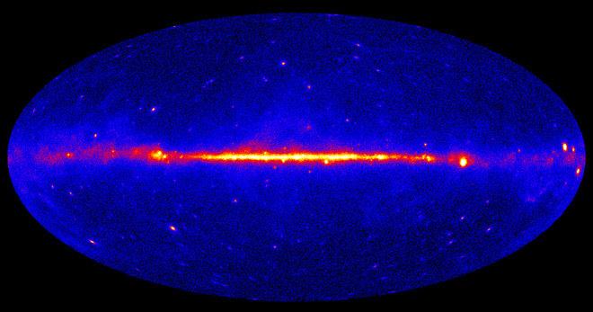 W centrum Drogi Mlecznej dochodzi do anihilacji ciemnej materii? /NASA