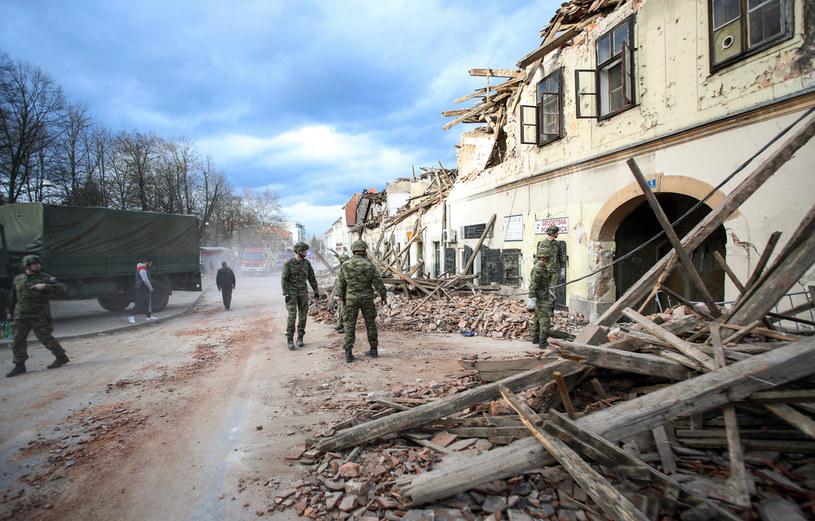 W Chorwacji rano wystąpiły trzy kolejne silne wstrząsy /Damir Sencar /AFP