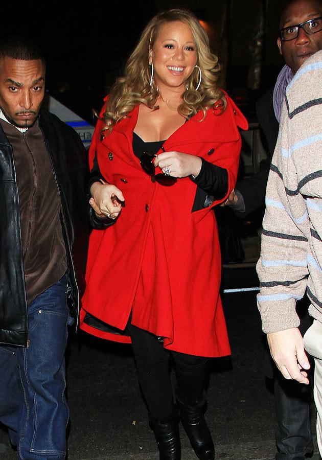 W ciąży Mariah przytyła, ale mimo to wyglądała kwitnąco. /Splashnews