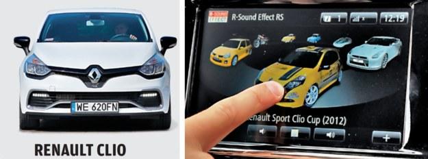 W Clio można wybierać, odgłos jakiego auta ma być naśladowany. /Motor