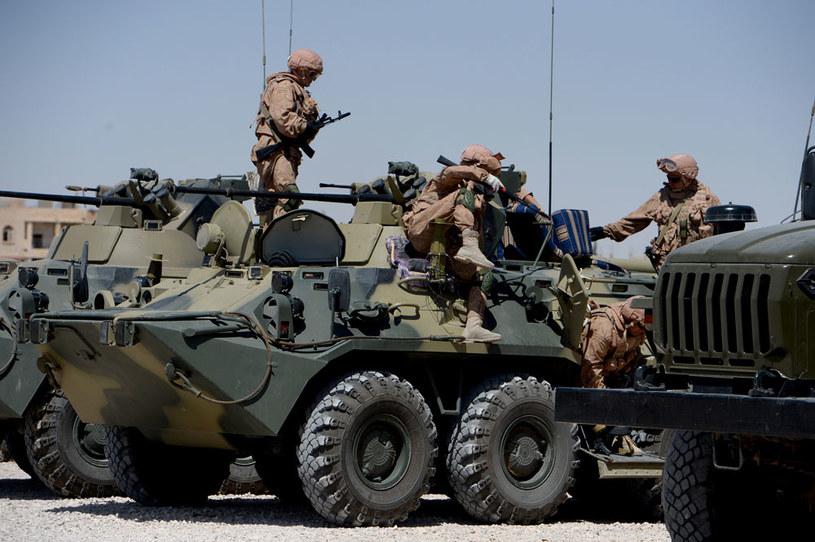 W czasie manewrów zostaną przetestowane nowe typy uzbrojenia. Na zdjęciu rosyjscy żołnierze w Syrii /AFP